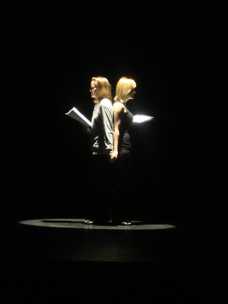Actors performing Mirror by Kelsey Garrett – winner in the high school division from Middletown High School South