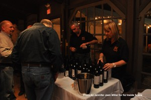 Guests, including Byram Mayor Jim Oscovitch, stopped by to sample some wine.