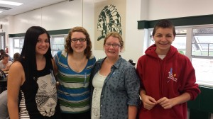 Left to right:  Janine Munoz, Laura Willis, Alexis Lerner, Nicholas Fallon