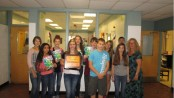 The 2014 HMS classbook staff, pictured from left to right, are Kaitlyn McManus, Kayla Bravo, Harmony Prescott, Amanda Ross, Jessica Thompson, Jake Mendyk, Joseph Juliano, Amber Tiritilli, Nick Fulton, Janelle Minervini and Advisor Sue Hill.