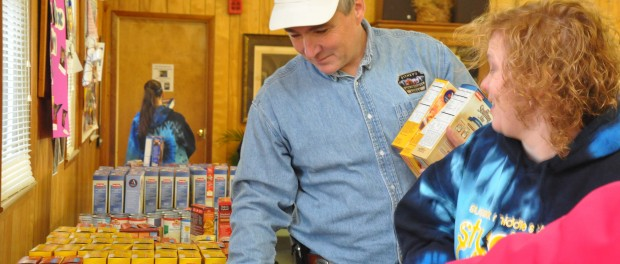 New Jersey Labor Commissioner Hal Wirths, volunteering his time during the