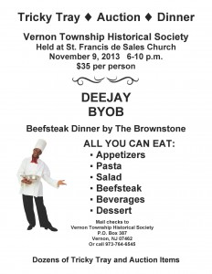 Fundraiser flyer courtesy of the Vernon Township Historical Society.