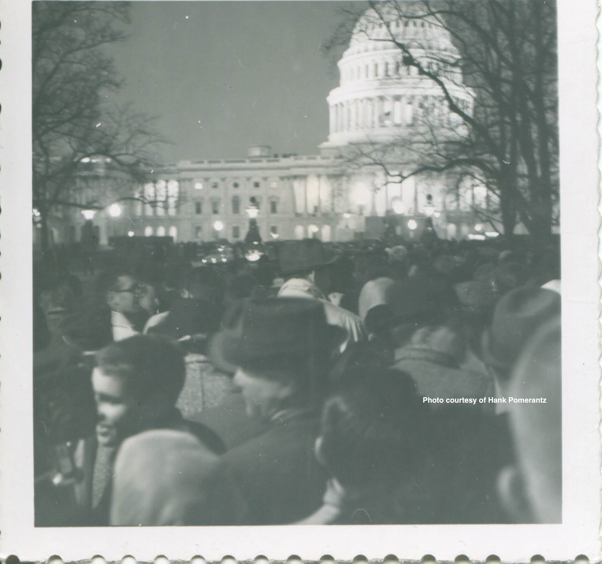 Washington DC, after the death of JFK. Photo courtesy of Hank Pomerantz.