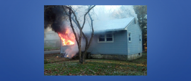 Hopatcong, Roxbury and Netcong Fire Departments Respond to House Fire.