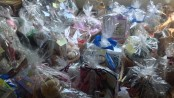 Some of the many baskets ready for the Vernon Township Historical Society fundraiser's auction.
