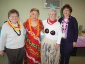 Co-president Marlene Colabella, Mahaelani, member Pat Hoffman and Co-president Ellen Buongiorrno