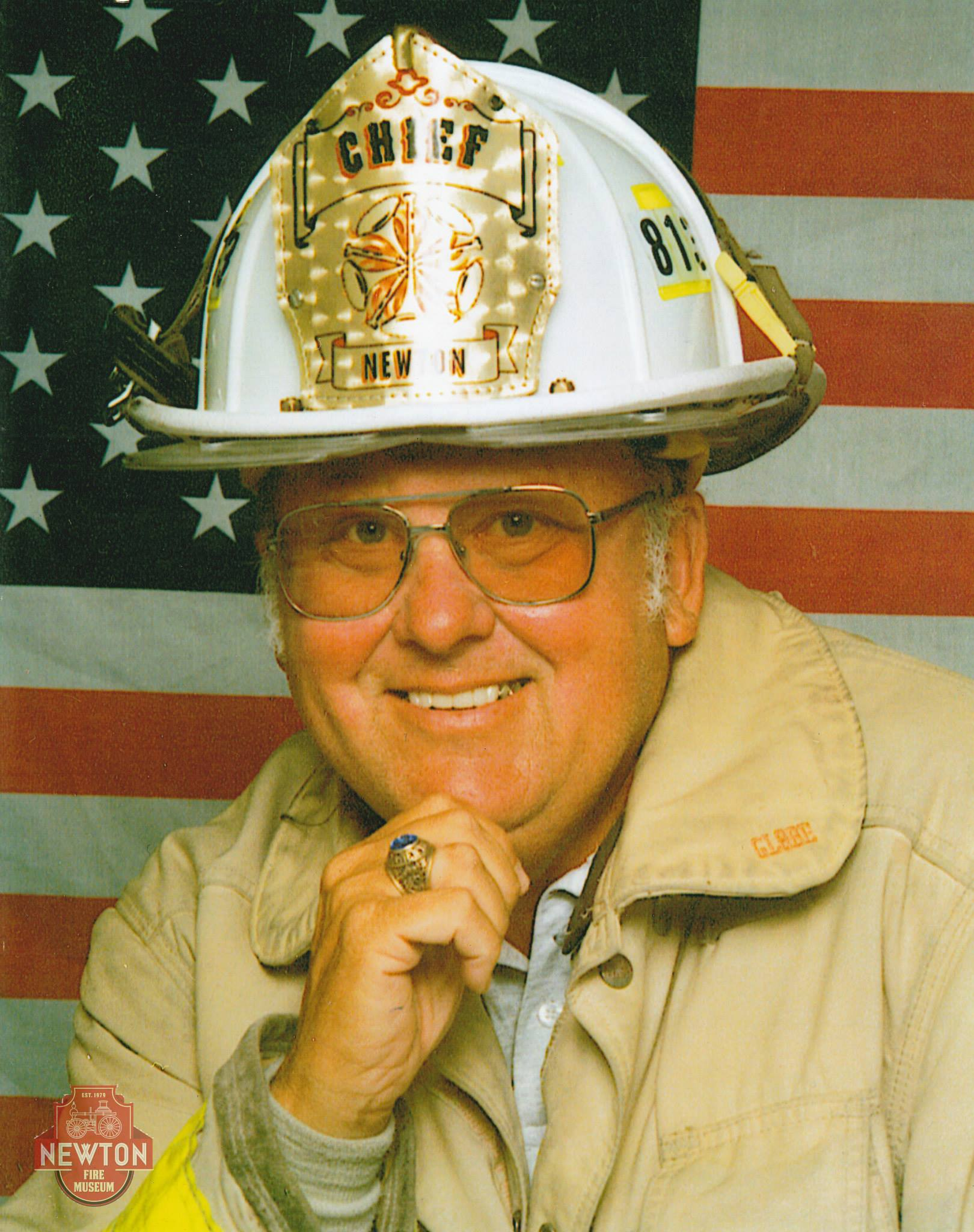 Chief Charlie Thom, courtesy of the Newton Fire Museum.