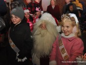 Little Mr. Newton and Little Miss Newton, Matthew Teets and Danielle Penny, with Santa.