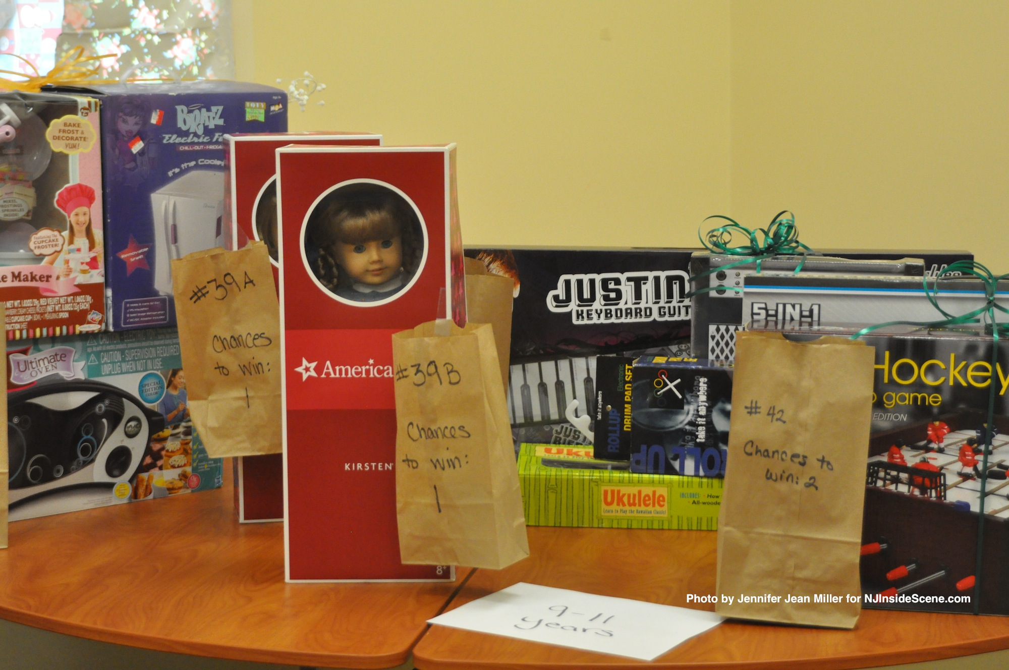 Items in the raffle room, a possible added bonuses offered during the Season of Hope shopping event.