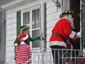 Santa and his team make a delivery to one of Newton's children.
