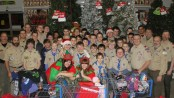 Sparta Boy Scout Troop 150 of Sparta shops for local families in need. Photo courtesy of the Sparta Boy Scout Troop 150.