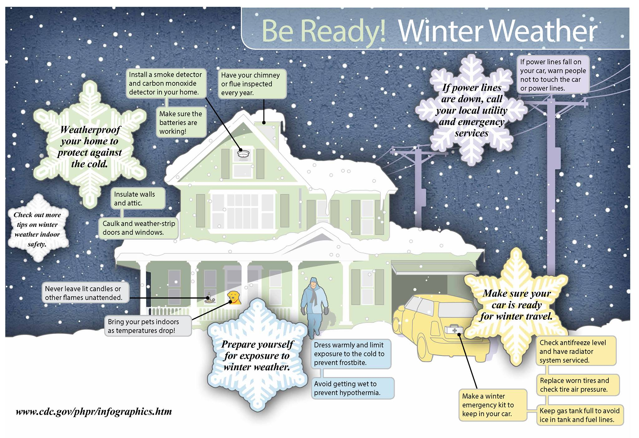Winter Weather Tips, shared on the Newton Police Department Facebook Page.