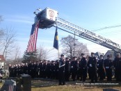 Firefighters gather in memory of Charlie Thom.
