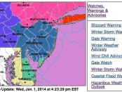 Winter Storm Warning in Effect Beginning Afternoon of Jan 2 - Six to Ten Inches of Snow Expected During Storm