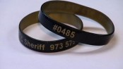 A new wristband for Sussex County Senior Citizens, available through Sussex County TRIAD. Photo courtesy of the Sussex County Sheriff's Office.