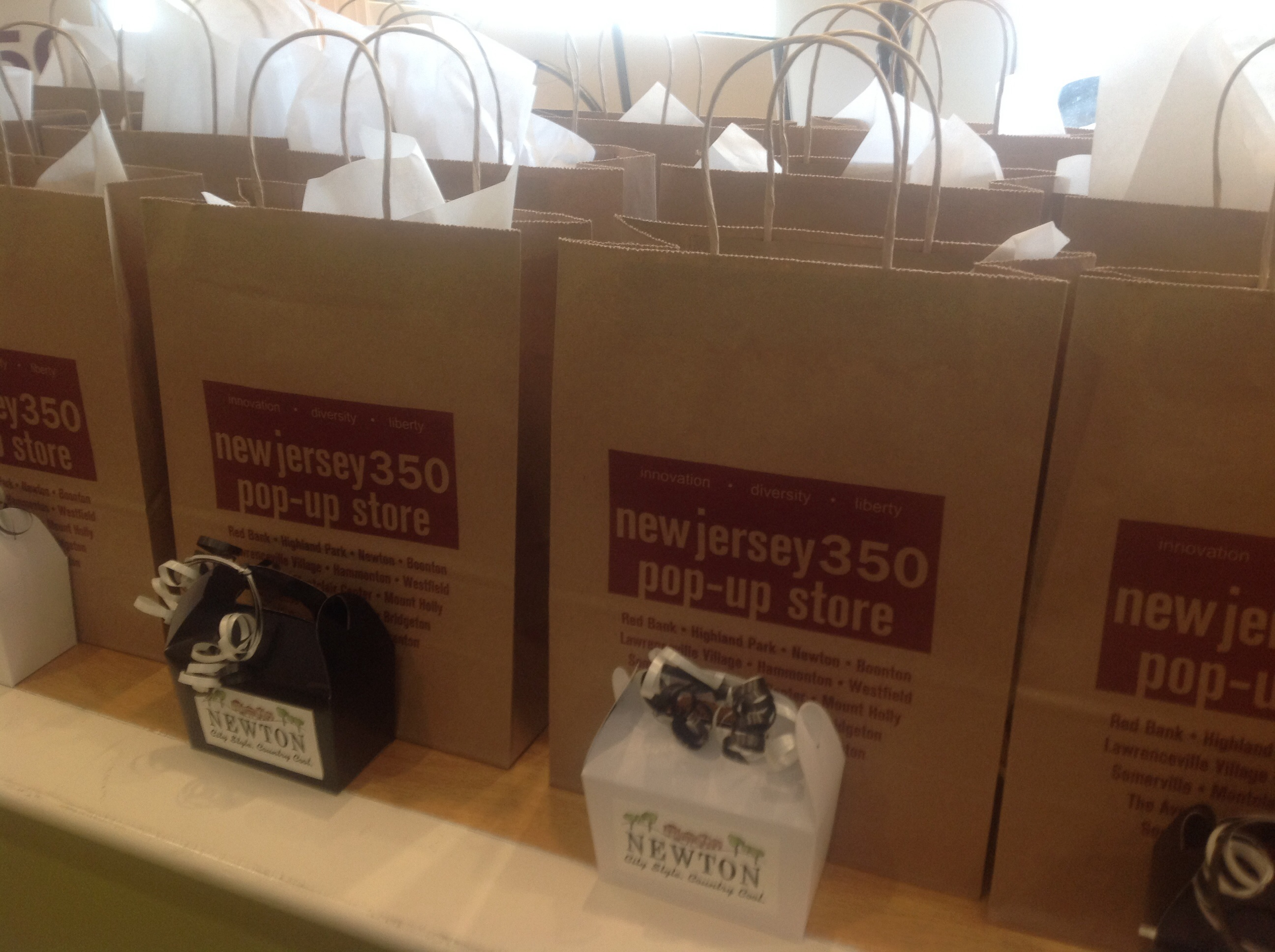 Goody bags at the celebration.