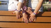 """Braidcelets."" Handcrafted Braidcelet bracelets that local youth are making and 100 percent of the proceeds will benefit the Sarrecchia family. Photo courtesy of the Braidcelet Facebook Page."