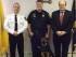 "Sheriff Michael Strada, Det. Kieran McMorrow, ""Kilo,"" and Sussex County Prosecutor David Weaver. Photo courtesy of the Sussex County Sheriff's Office."