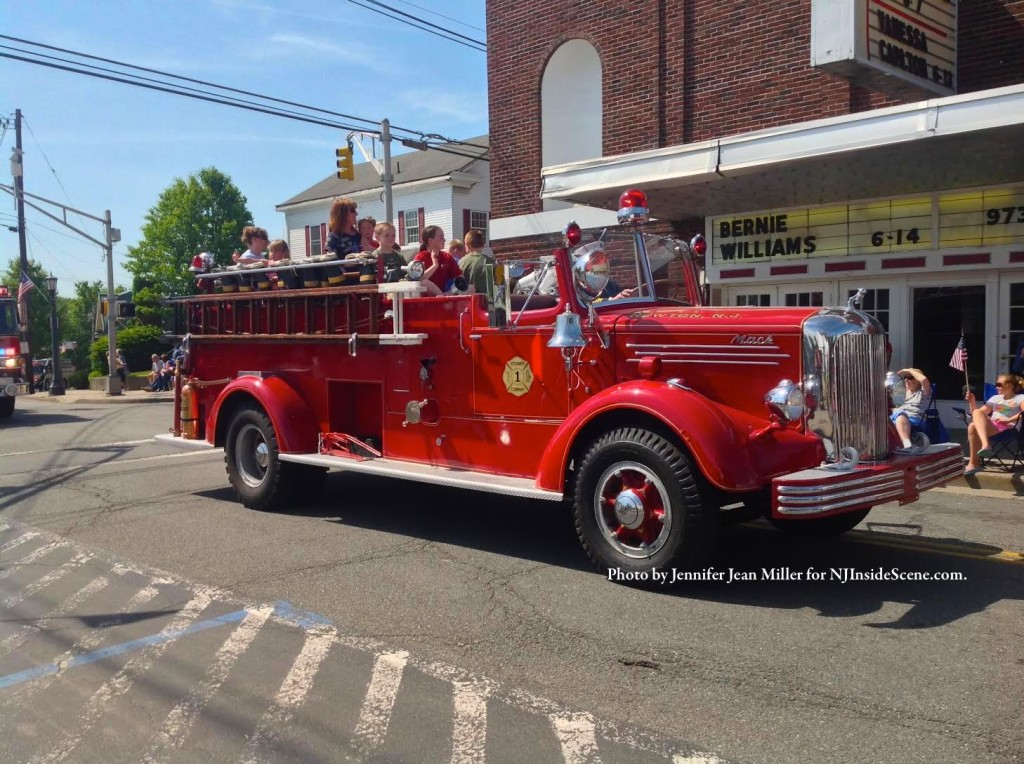 The Newton Fire Department's Mack Engine in all its glory, in the parade. Photo by Jennifer Jean Miller.