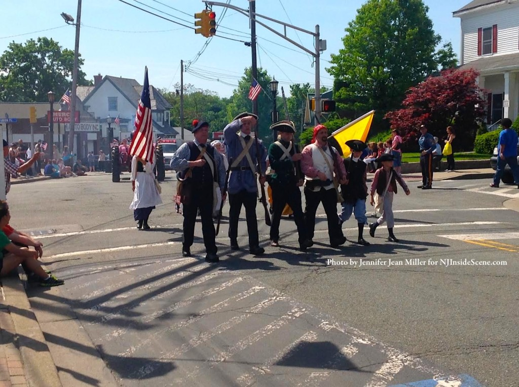 A group of Revolutionary War regiment re-enactors, were part of the parade. Photo by Jennifer Jean Miller.