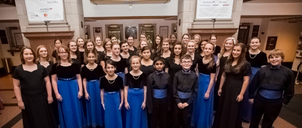 The members of the Children's Chorus of Sussex County prepare to perform at Carnegie Hall.