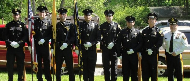 Pictured from left to right are as follows: Lieutenant Christopher Lynch, Corrections Officer Joseph White, Corrections Officer Keith Blessing, Corrections Officer Paul Liobe Corrections Officer Kyle Keller, Corrections Officer Robert Washer, Lieutenant John Bannon, and Sheriff Michael F. Strada.