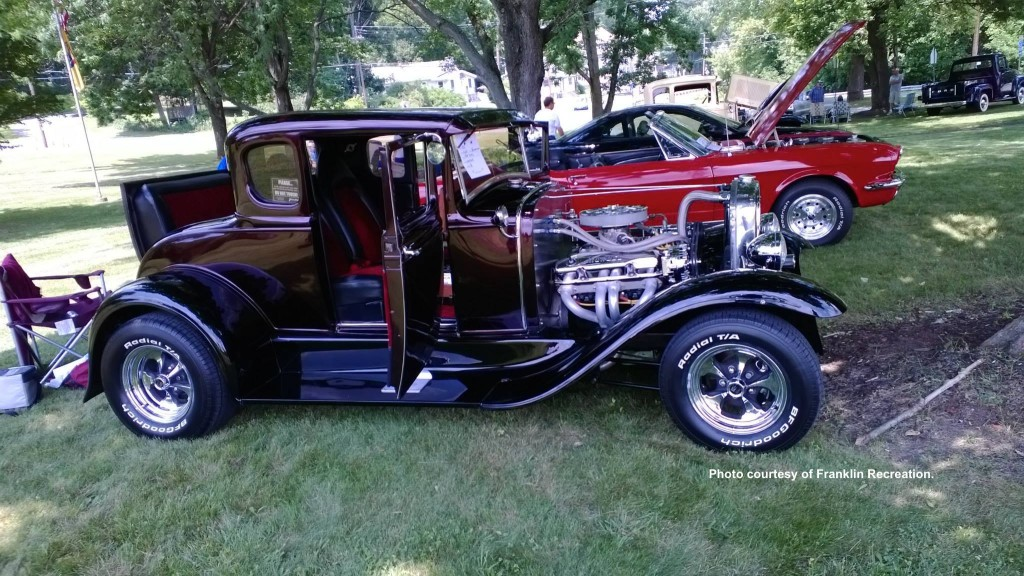 Some of the vintages autos at the car show. Photo courtesy of the Franklin Recreation Committee.