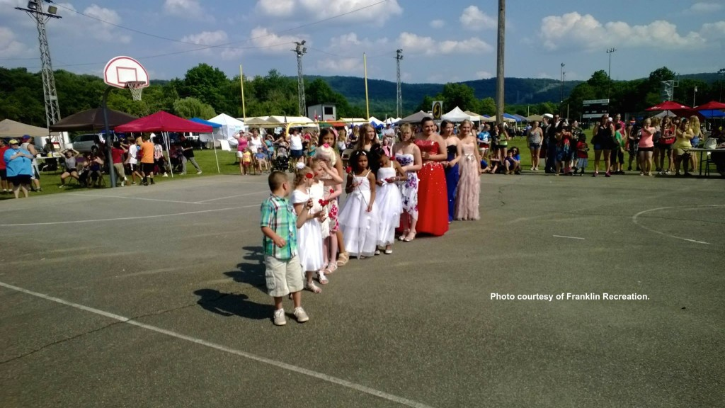 Contestants lined up. Photo courtesy of Franklin Recreation.