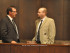 Town of Newton Councilman and Mayor Kevin Elvidge (left) and Councilman Wayne Levante (right). By Jennifer Jean Miller.