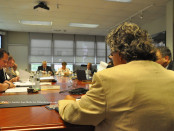 Dr. Anthony Balzano addresses the board. Photo by Jennifer Jean Miller.