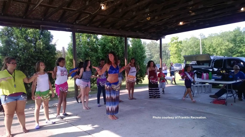 One of the dancing activities during the daytime. Photo courtesy of Franklin Recreation.