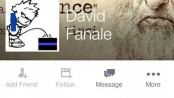 NJInsideScene.com censored this version of David Fanale's Facebook Page. Many local residents and law enforcement officers from beyond the county have been offended by the image, and plan to come to the next Franklin Borough Council meeting, to share their views. Image courtesy of Facebook.