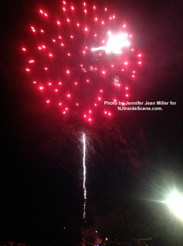 A shower of red fireworks in Franklin. Photo by Jennifer Jean Miller.