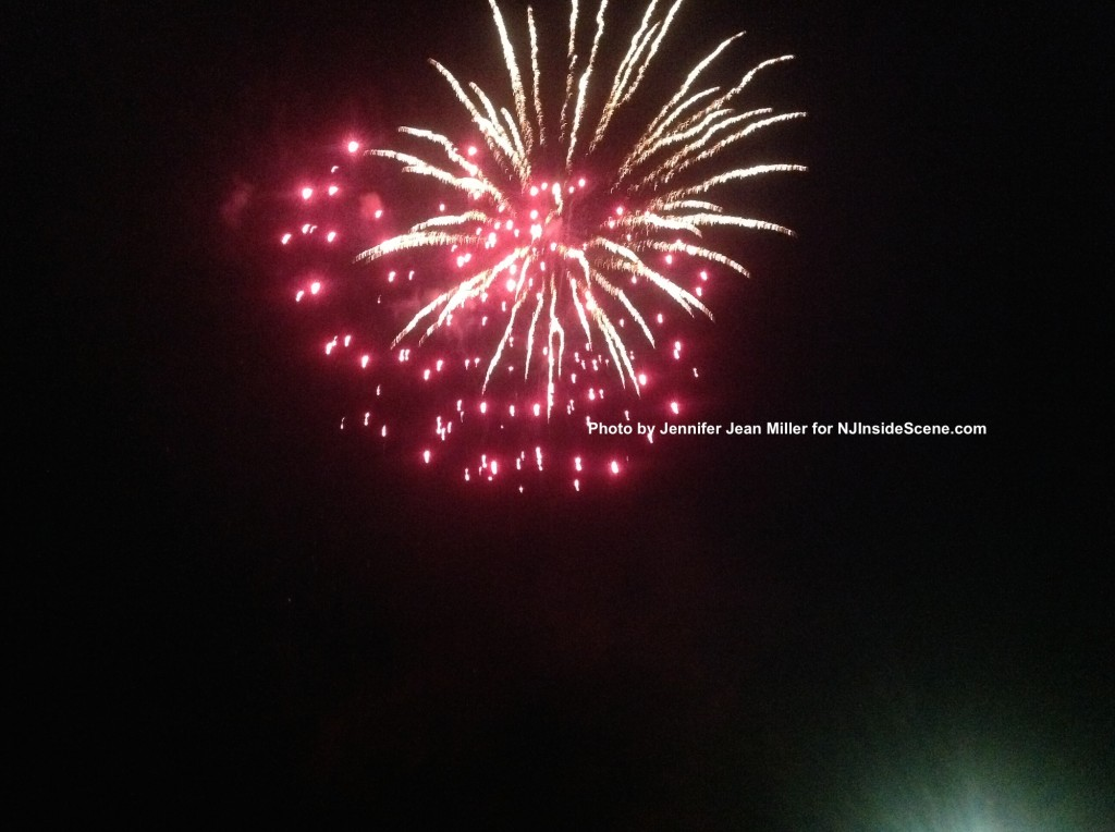 Red and white splashes across the sky during the Franklin fireworks. Photo by Jennifer Jean Miller.