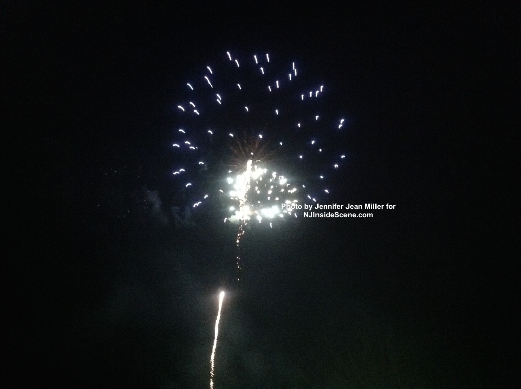Fireworks shoot up into the sky over Franklin. Photo by Jennifer Jean Miller.