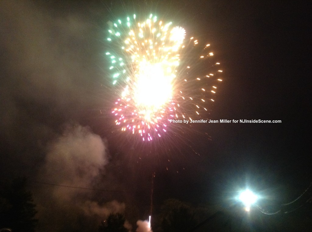 A rainbow of color flashes over the sky in the final round of fireworks. Photo by Jennifer Jean Miller.