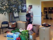 Girl Scout Troop #897 member Andi Kidd conducted a school supply drive on behalf of Project Self-Sufficiency in order to achieve her Silver Award.