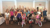 Blair Academy staff members built and donated brand new bikes to three families served by Project Self-Sufficiency.