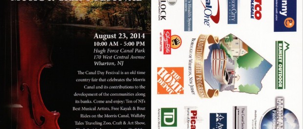 Flyer for the Canal Day in Wharton, taking place this Saturday, August 23.