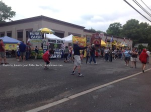 Food and beverage vendors lined up during the festival. Photo by Jennifer Jean Miller.