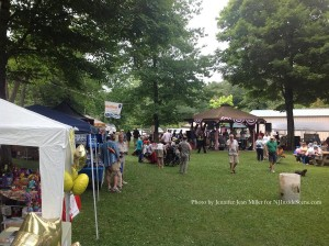 Vendors on the park's grassy area. Photo by Jennifer Jean Miller.