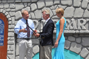 Hope Township Mayor Tim McDonough presents Chris and Maria Maier with a proclamation. Photo by Jennifer Jean Miller.