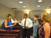 Councilman Joe Martinez at his swearing in. Photo by Jennifer Jean Miller.