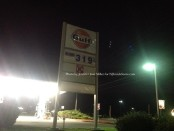 Prices at the Gulf Station near Limecrest Road in Andover Township. Photo by Jennifer Jean Miller.