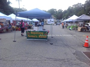 Entry to the Hopatcong Borough Farmers' Market. Photo by Jennifer Jean Miller.