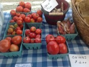 Fresh produce from DanaRay Farms at the Hopatcong Farmers' Market. Photo by Jennifer Jean Miller.
