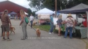 Attendees enjoy the Blairstown Farmers' Market, including those on four legs. Some make a stop at the Coffee Coops both during their visit. Photo by Jennifer Jean Miller.