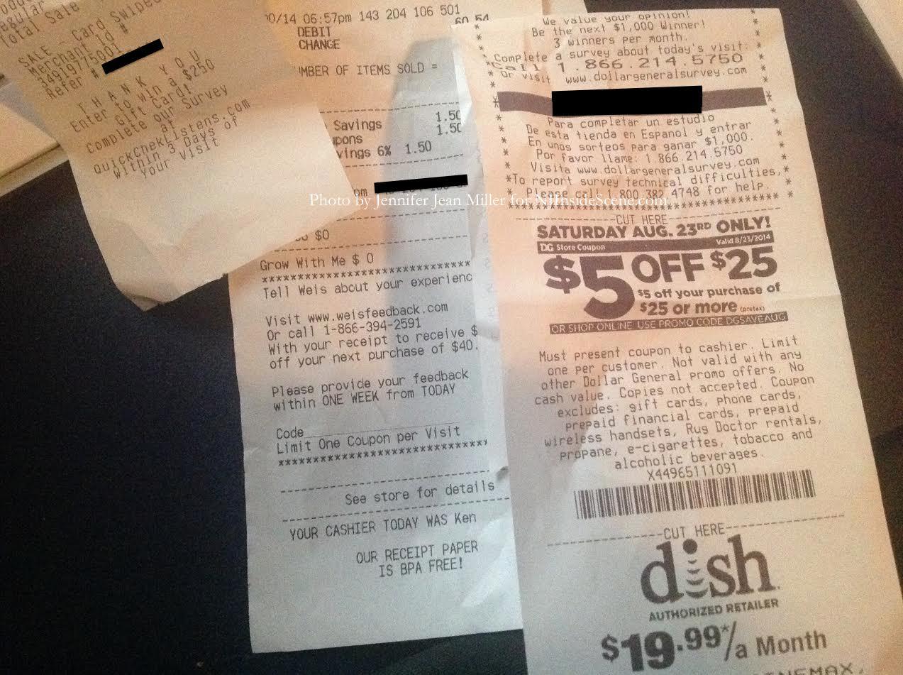 the value of saving receipts insidescene com