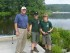 Chuck Roberts (left) with Boy Scouts fishing at summer camp. Photo courtesy of the Boy Scouts of America, Patriots' Path Council.