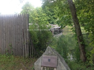 A marker overseeing the Mule Bridge at Waterloo Village. Photo by Jennifer Jean Miller.